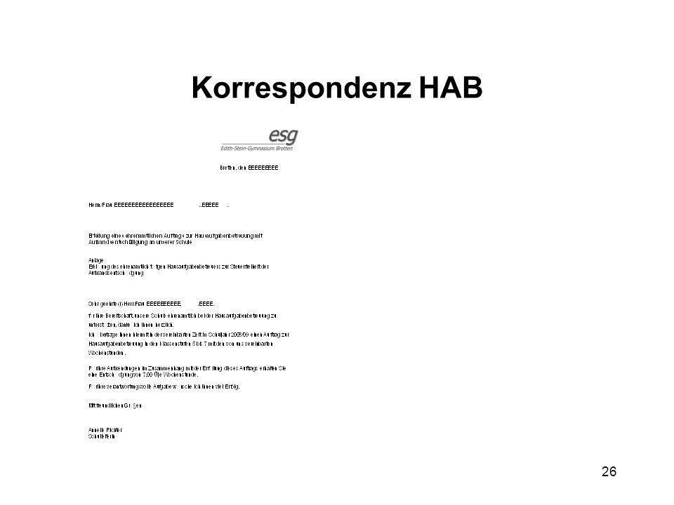 26 Korrespondenz HAB