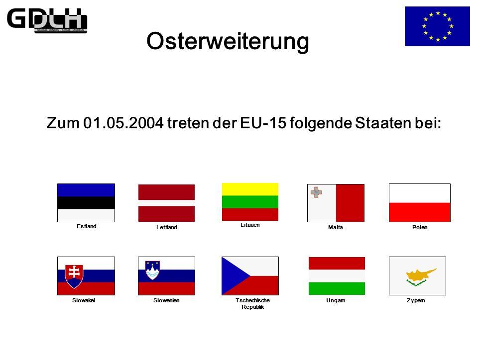 Die Osterweiterung Wie groß kann Europa werden? Jeder europäische Staat kann beantragen Mitglied der EU zu werden!
