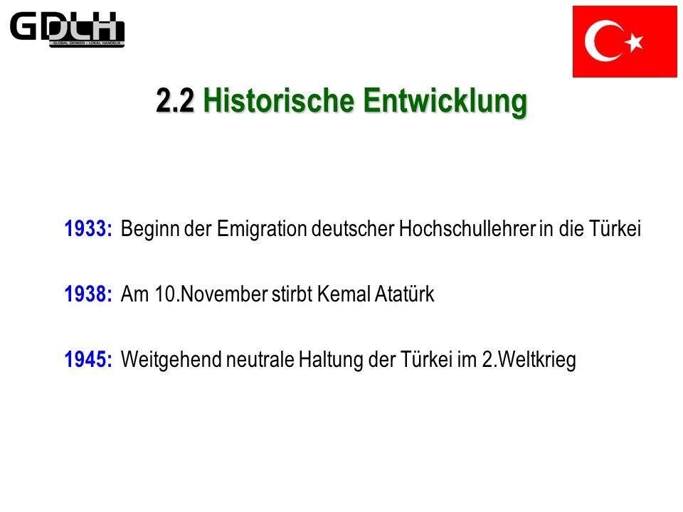 1923: Ausrufung der Republik Türkei am 29.Oktober, Mustafa Kemal wird erster Staatspräsident 1924: Erste Verfassung tritt in Kraft 1928: Abschaffung d