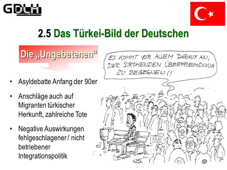 2.5 Das Türkei-Bild der Deutschen Widersprüchliches In den 80ern generieren besonders die Medien ein neues Türkei-Bild im Westen Deutschlands Menschen