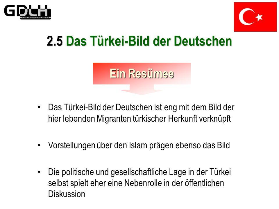 2.5 Das Türkei-Bild der Deutschen Die Terroristen Nach dem 11.September 2001 steht die Religion im Mittelpunkt der Bedenken, Vorurteile und Klischees