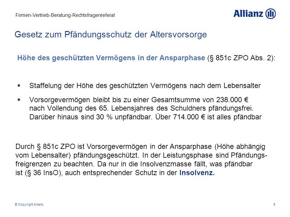 Firmen-Vertrieb-Beratung-Rechtsfragenreferat © Copyright Allianz10