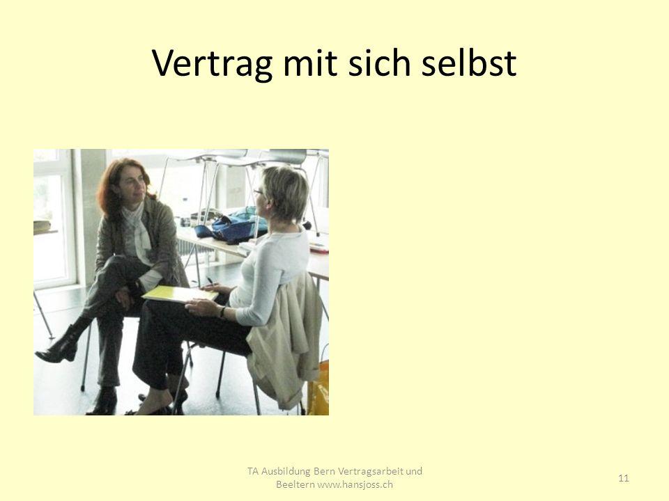 Vertrag mit sich selbst 11 TA Ausbildung Bern Vertragsarbeit und Beeltern www.hansjoss.ch
