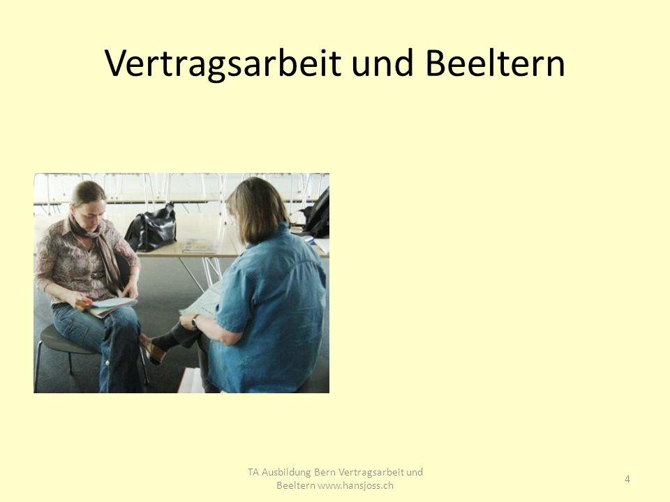 Vertragsarbeit und Beeltern 4 TA Ausbildung Bern Vertragsarbeit und Beeltern www.hansjoss.ch