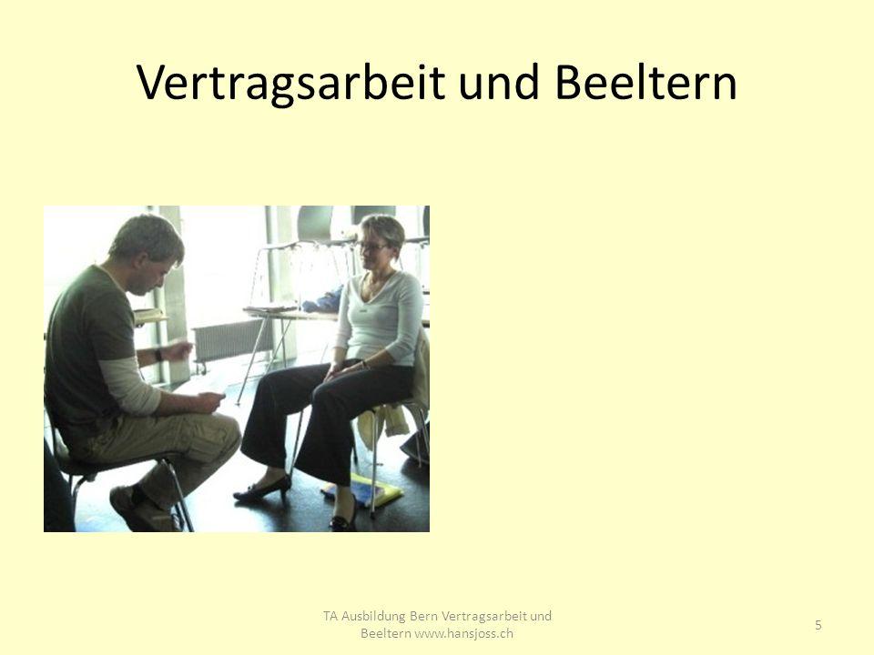 Vertragsarbeit und Beeltern 5 TA Ausbildung Bern Vertragsarbeit und Beeltern www.hansjoss.ch