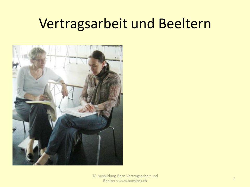 Vertragsarbeit und Beeltern 7 TA Ausbildung Bern Vertragsarbeit und Beeltern www.hansjoss.ch