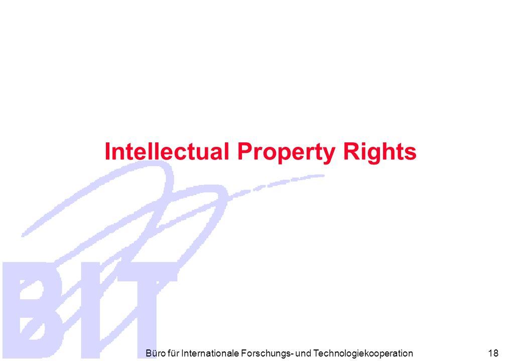 Büro für Internationale Forschungs- und Technologiekooperation 17 Vertragsstrafe Bei schwerem Bruch des Vertrages Zw.