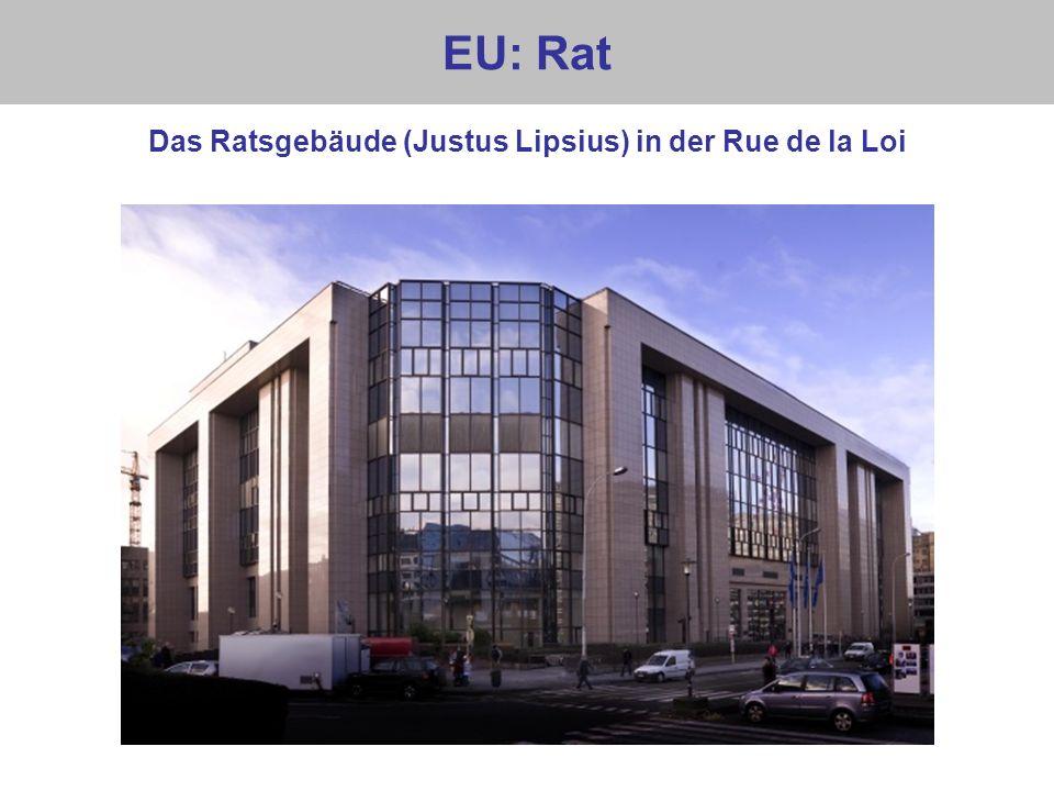 EU: Rat Das Ratsgebäude (Justus Lipsius) in der Rue de la Loi