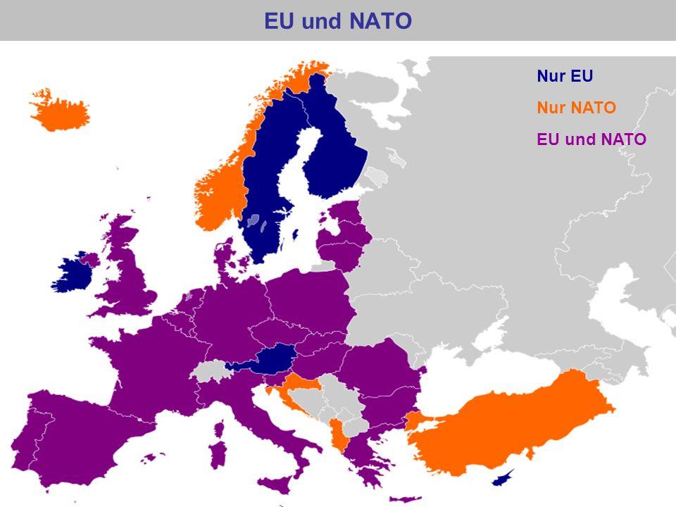 EU und NATO PR Nur EU Nur NATO EU und NATO