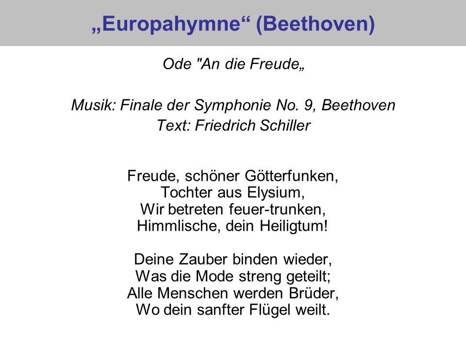 Europahymne (Beethoven) Ode