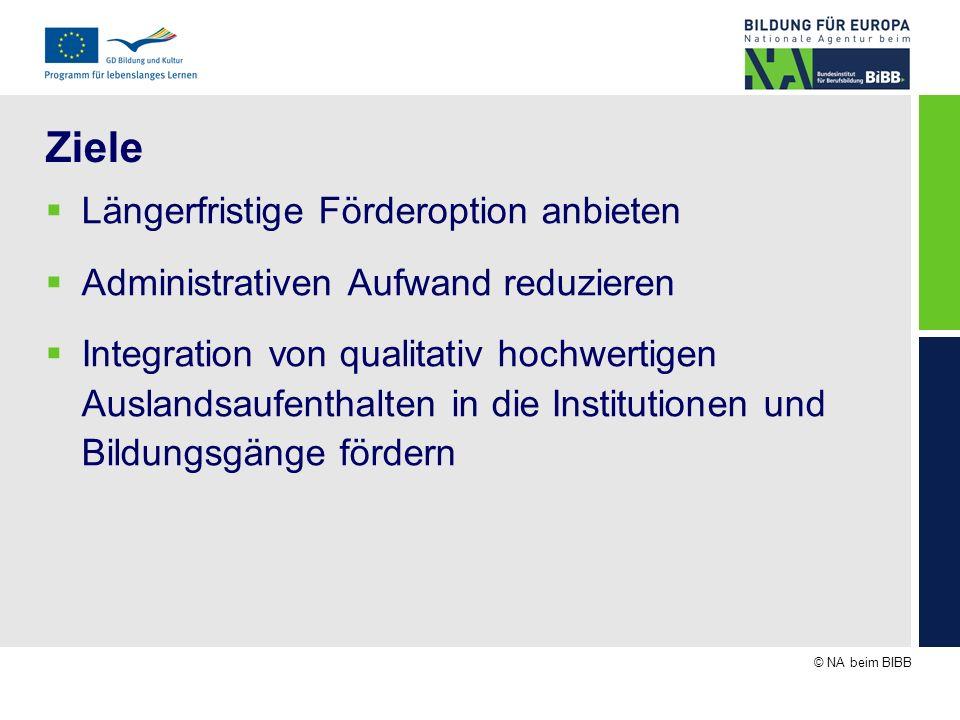 © NA beim BIBB Abläufe (3) Projektantrag im Zertifikatsverfahren 2009 erfolgreich Beispiel 2: 100.000 beantragt für Flows zwischen 06/2009 und 05/2010 1.