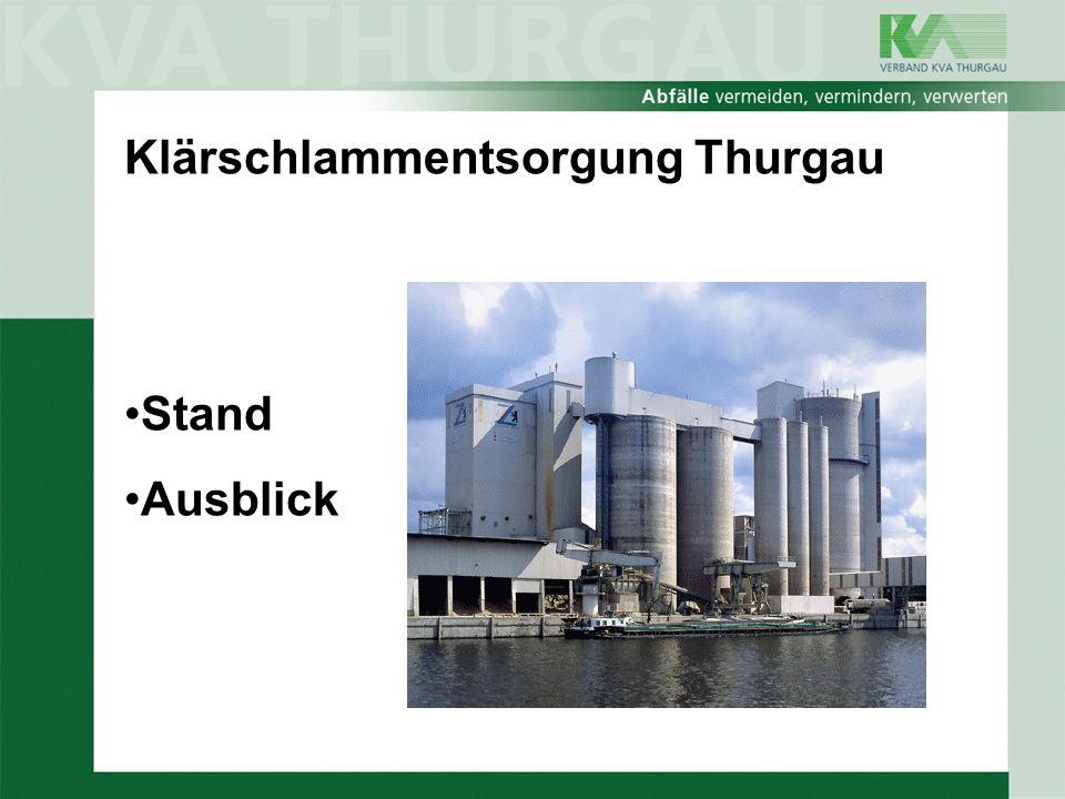 Klärschlammentsorgung Thurgau Stand Ausblick