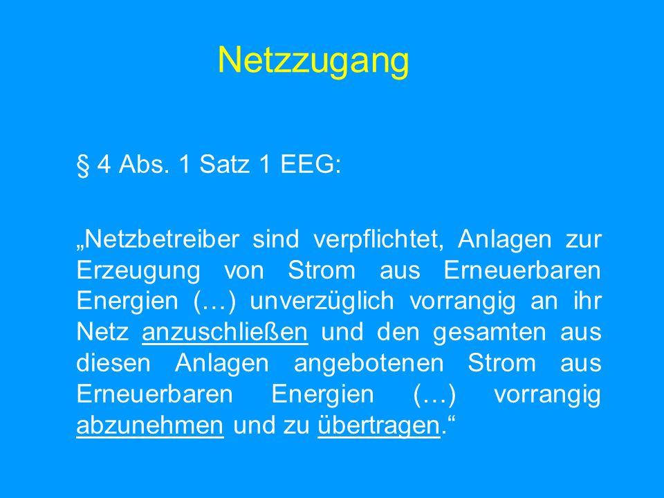 Netzzugang § 4 Abs.