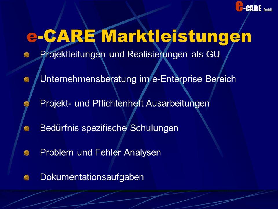 e -CARE GmbH Wir können helfen Wir decken Ihre Spitzen ab und unterstützen Sie Arbeitsvolumen Die Arbeitsbelastung optimieren Ressourcen optimaler ein