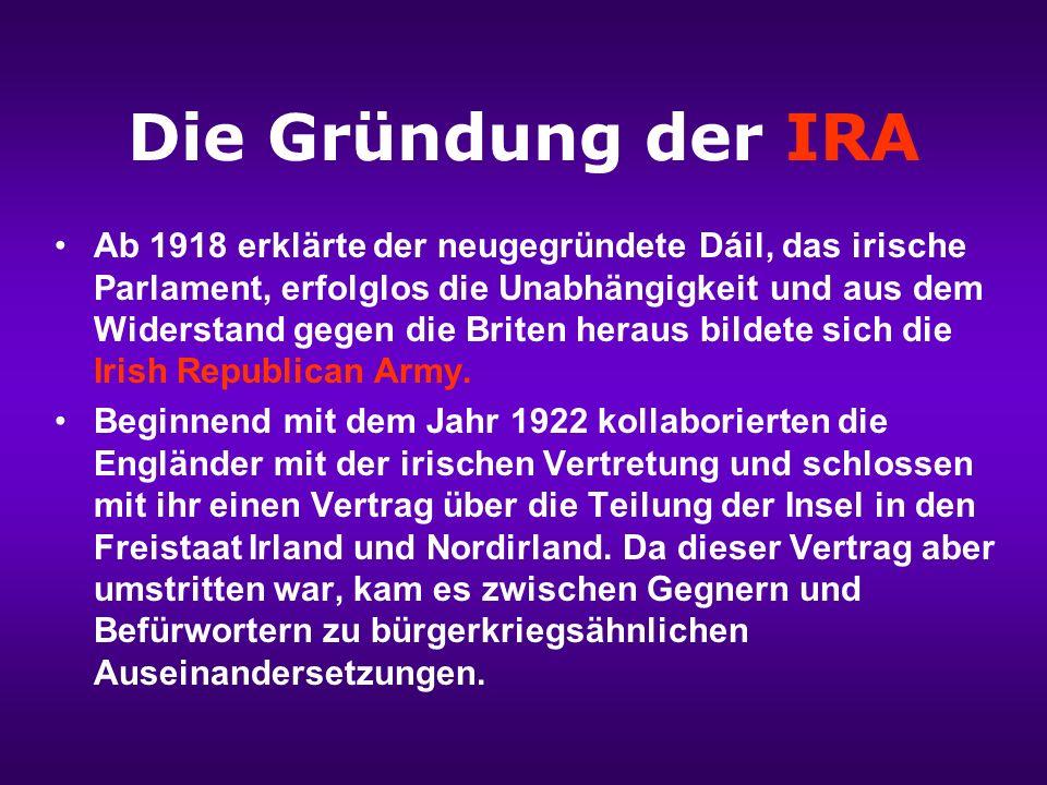 Der Osteraufstand 1916 Die englische Besatzungsmacht unterdrückte jegliches Autonomiestreben wie beim Osteraufstand 1916, nach dessen Scheitern die Anführer hingerichtet wurden.