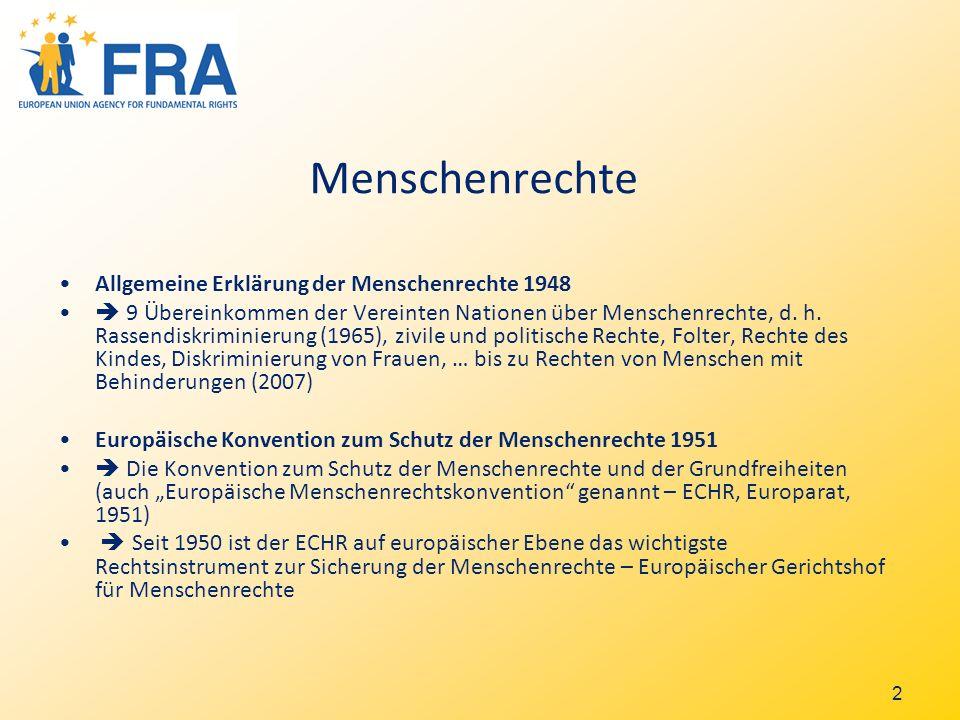 2 Menschenrechte Allgemeine Erklärung der Menschenrechte 1948 9 Übereinkommen der Vereinten Nationen über Menschenrechte, d.