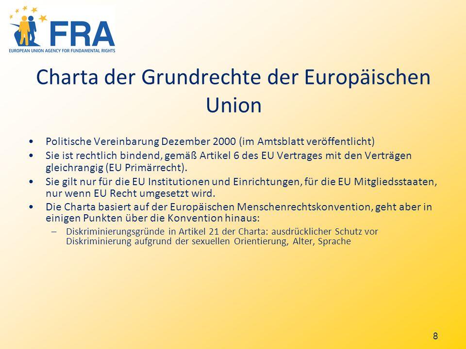 9 Diskriminierung aufgrund von Rasse und ethnischer Herkunft Richtlinie 43/2000: Arbeitswelt, Erziehung, Gesundheitswesen, Sozialsystem, Dienstleistungen und Waren, Wohnungssuche