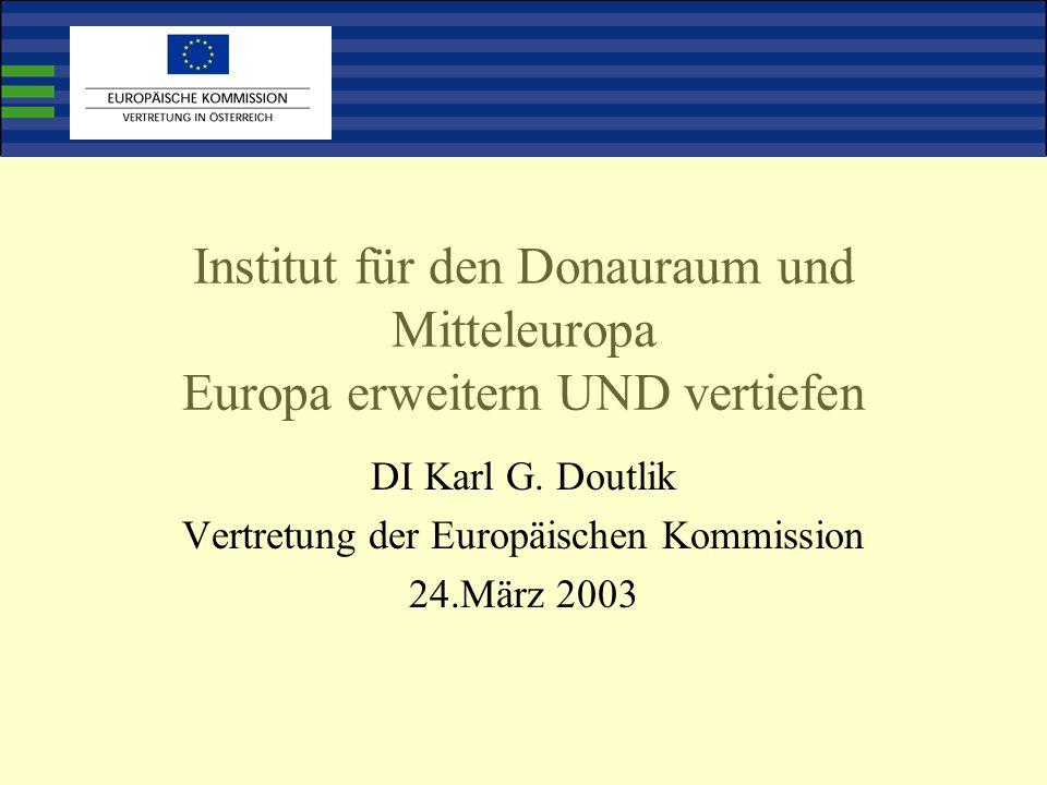 Institut für den Donauraum und Mitteleuropa Europa erweitern UND vertiefen DI Karl G.