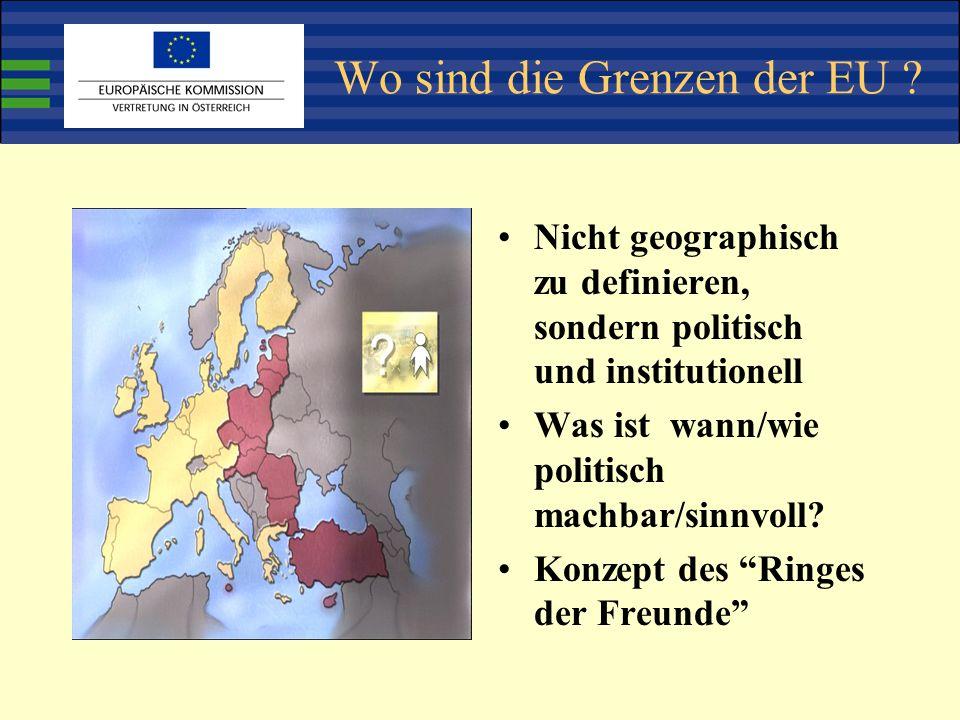Wo sind die Grenzen der EU .