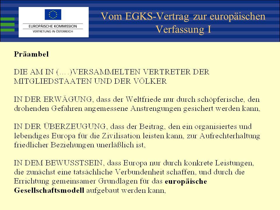 Vom EGKS-Vertrag zur europäischen Verfassung I