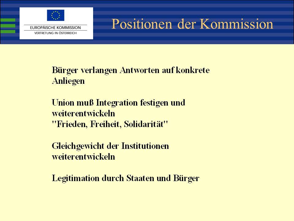 Positionen der Kommission