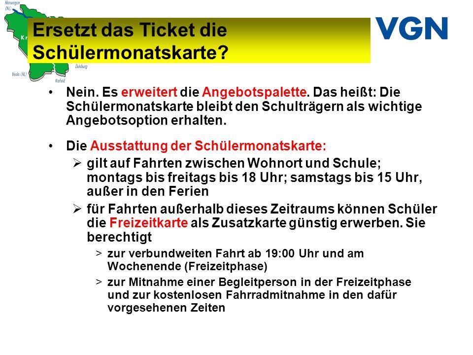 Ersetzt das Ticket die Schülermonatskarte.Nein. Es erweitert die Angebotspalette.
