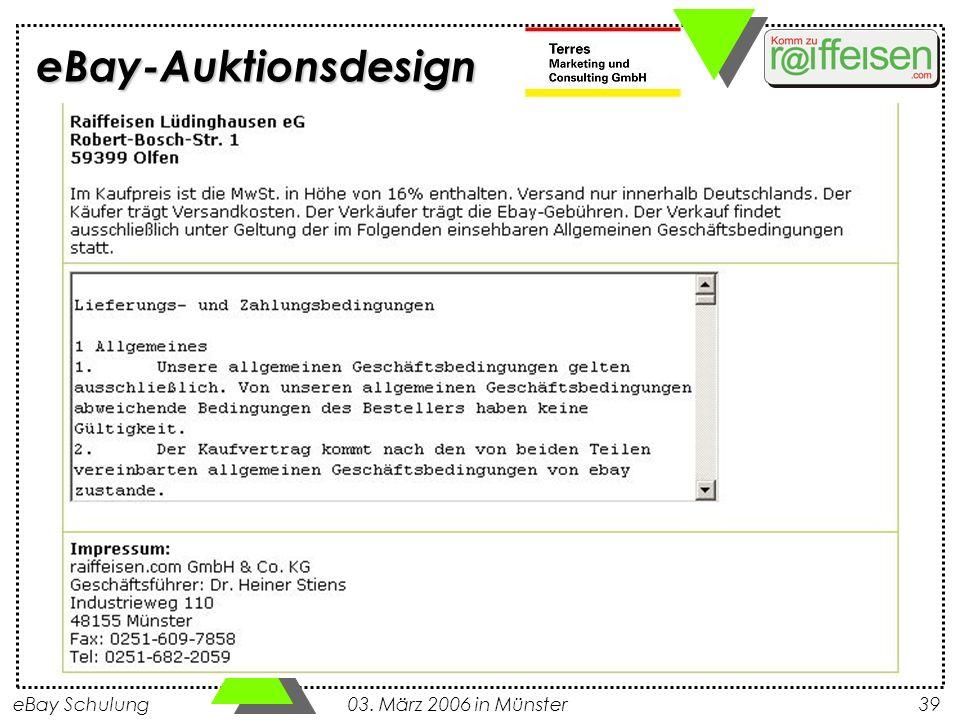 eBay Schulung 03. März 2006 in Münster39 eBay-Auktionsdesign