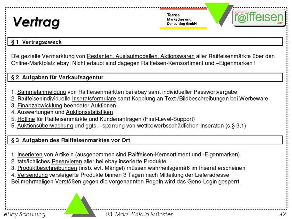 eBay Schulung 03. März 2006 in Münster42 Vertrag