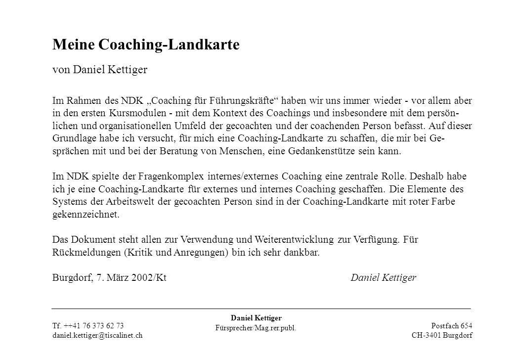 Daniel Kettiger Fürsprecher/Mag.rer.publ. Postfach 654 CH-3401 Burgdorf Tf.