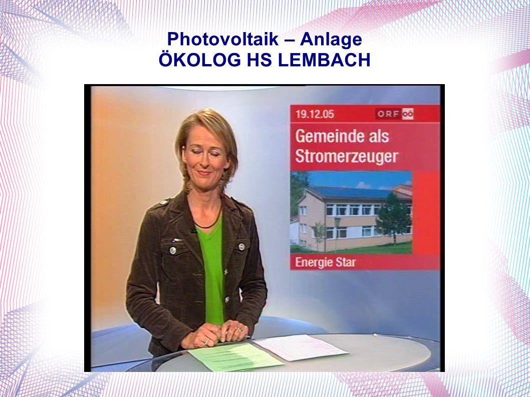 Photovoltaik – Anlage ÖKOLOG HS LEMBACH