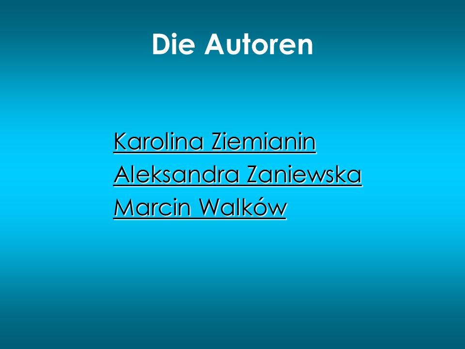 Die Autoren Karolina Ziemianin Aleksandra Zaniewska Marcin Walków
