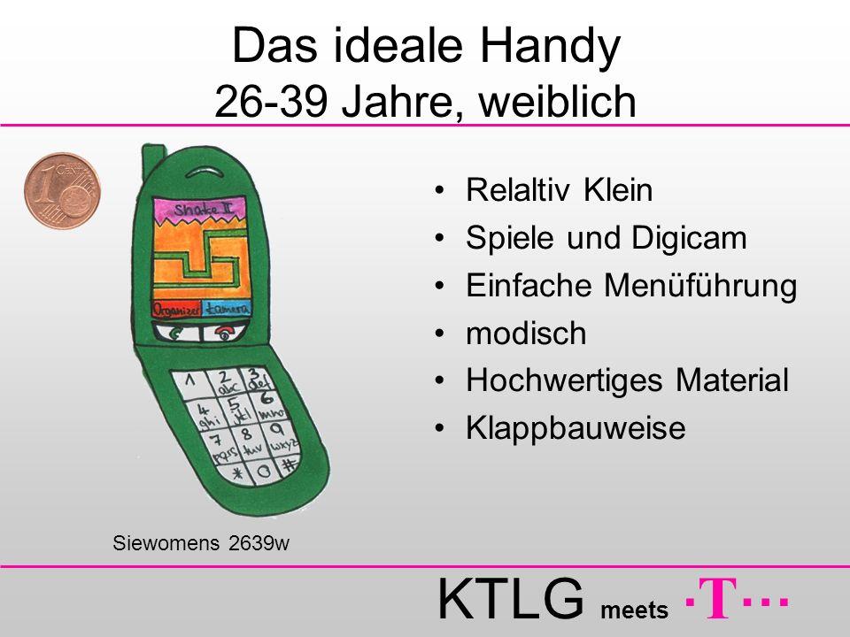 KTLG meets. T … Das ideale Handy 26-39 Jahre, weiblich Relaltiv Klein Spiele und Digicam Einfache Menüführung modisch Hochwertiges Material Klappbauwe