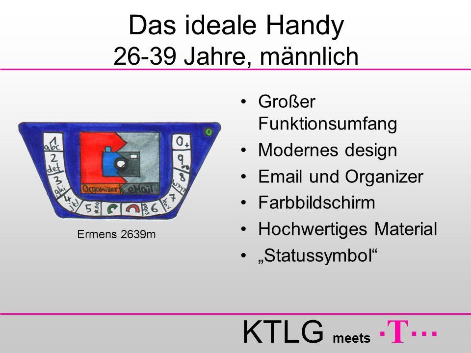KTLG meets. T … Das ideale Handy 26-39 Jahre, männlich Großer Funktionsumfang Modernes design Email und Organizer Farbbildschirm Hochwertiges Material