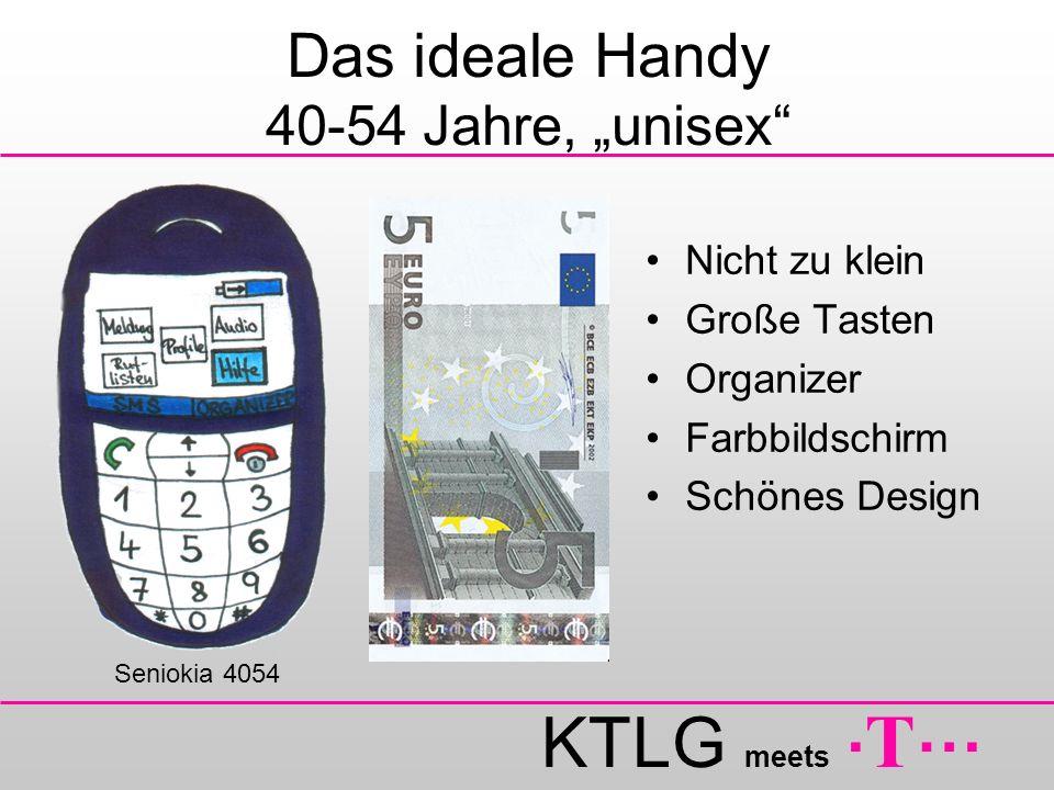 KTLG meets. T … Das ideale Handy 40-54 Jahre, unisex Nicht zu klein Große Tasten Organizer Farbbildschirm Schönes Design Seniokia 4054