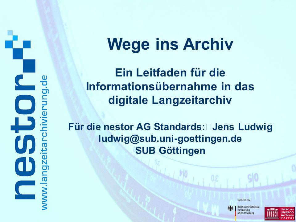 www.langzeitarchivierung.de IWI Überblick Begriff und Motivation Der Leitfaden im Überblick Ausgewählte Abschnitte