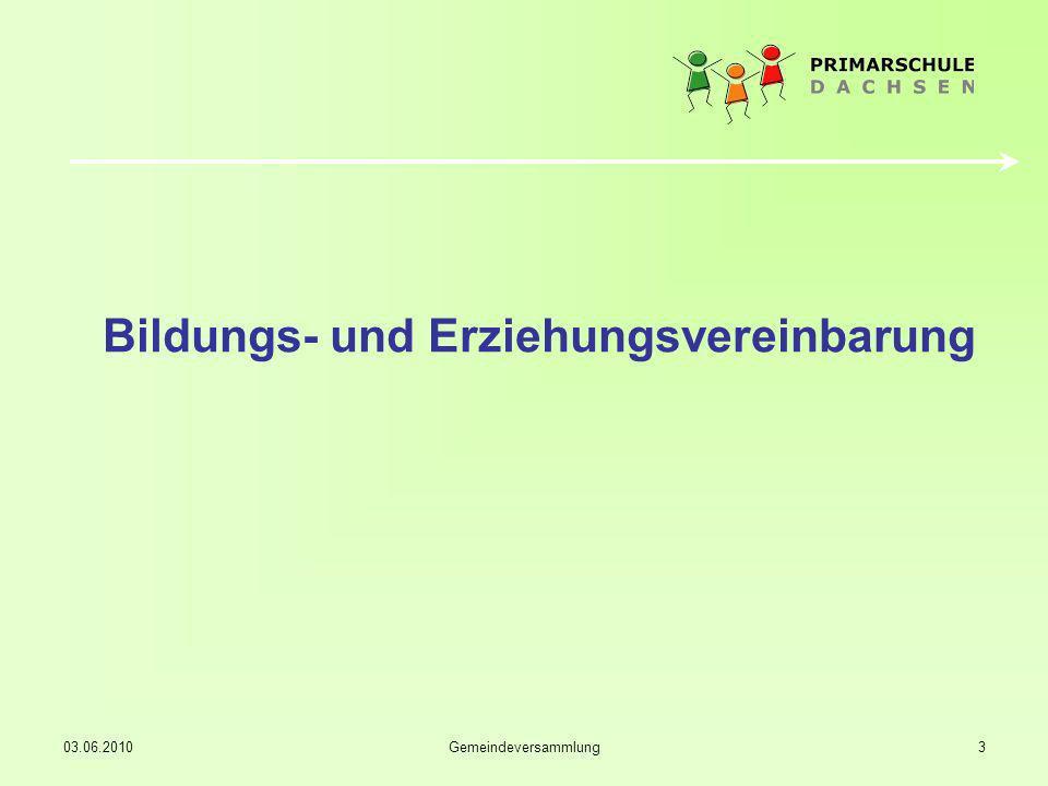 03.06.2010Gemeindeversammlung14 Herzlichen Dank www.primarschuledachsen.ch