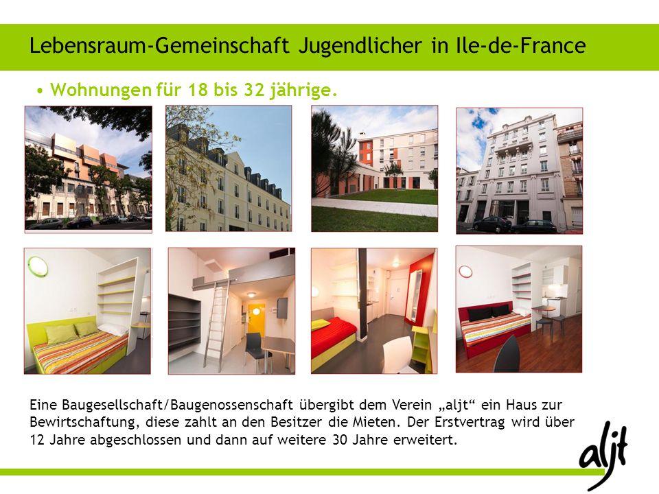 Wohnungen für 18 bis 32 jährige. Lebensraum-Gemeinschaft Jugendlicher in Ile-de-France