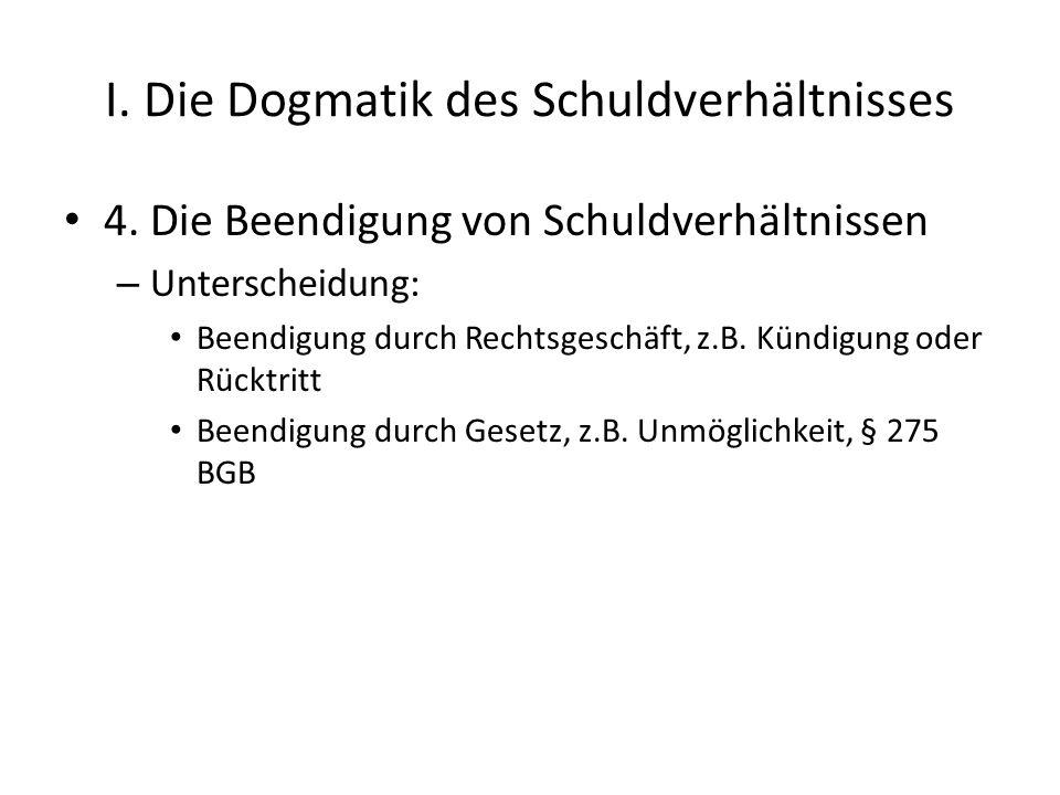 I.Die Dogmatik des Schuldverhältnisses 4.