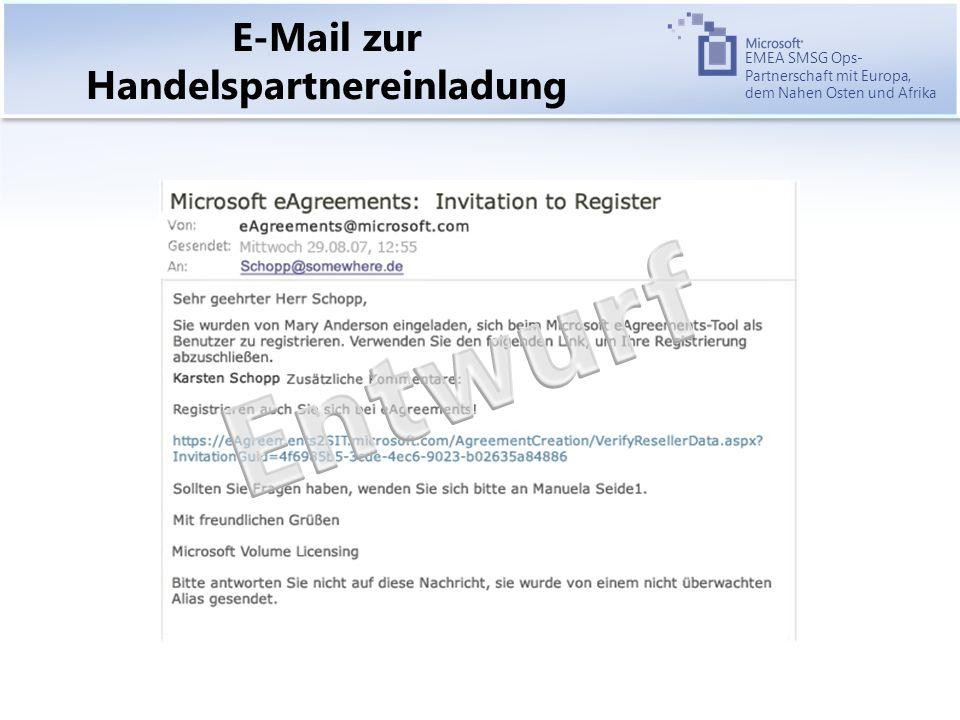 EMEA SMSG Ops- Partnerschaft mit Europa, dem Nahen Osten und Afrika E-Mail zur Handelspartnereinladung