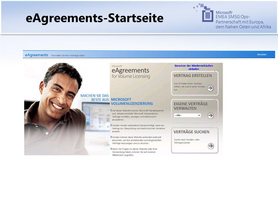 EMEA SMSG Ops- Partnerschaft mit Europa, dem Nahen Osten und Afrika eAgreements-Startseite