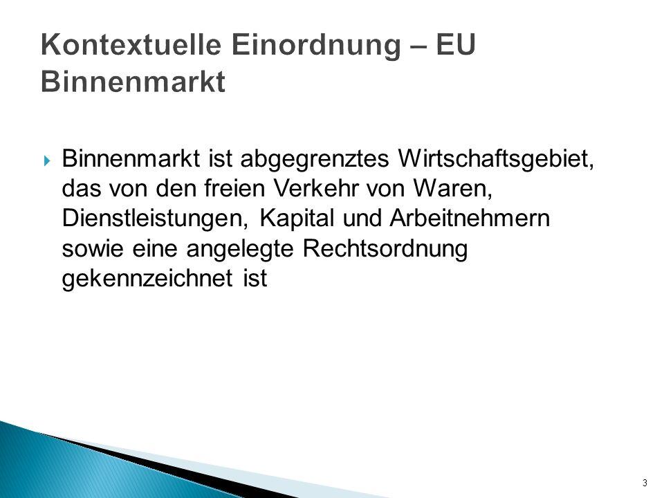 Binnenmarkt ist abgegrenztes Wirtschaftsgebiet, das von den freien Verkehr von Waren, Dienstleistungen, Kapital und Arbeitnehmern sowie eine angelegte