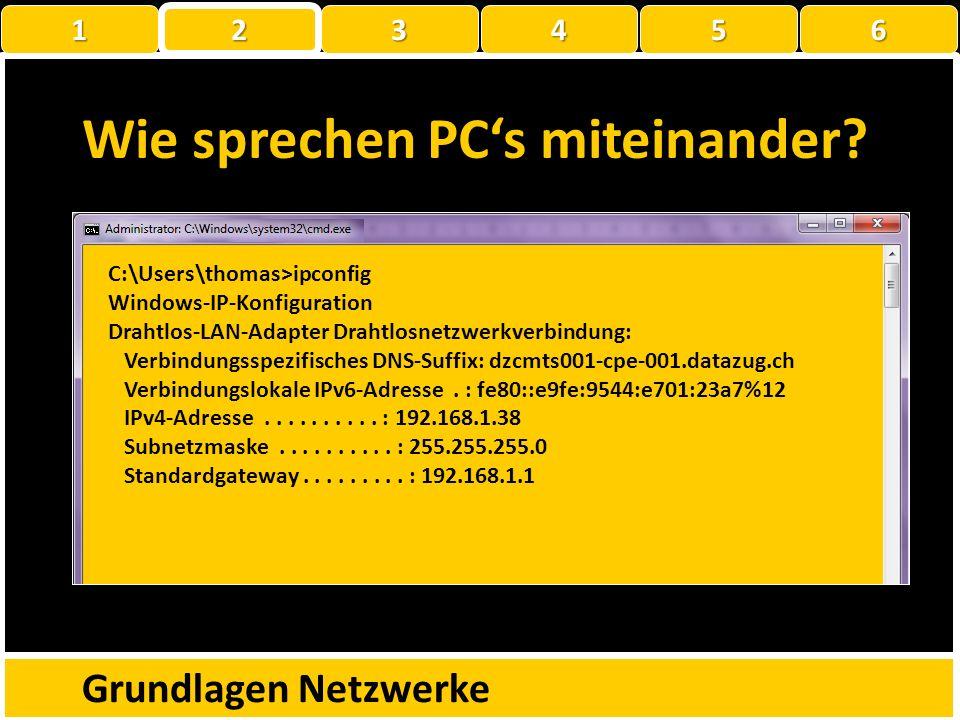 Wie sprechen PCs miteinander? Grundlagen Netzwerke 079123???? 1 22223456