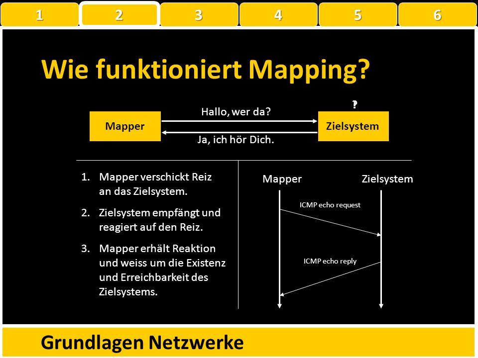 Mapping Erkennen von aktiven und erreichbaren Systemen Erkennen von Netzwerkproblemen Erkennen von Sicherheitsmechanismen Grundlagen Netzwerke 1 22223