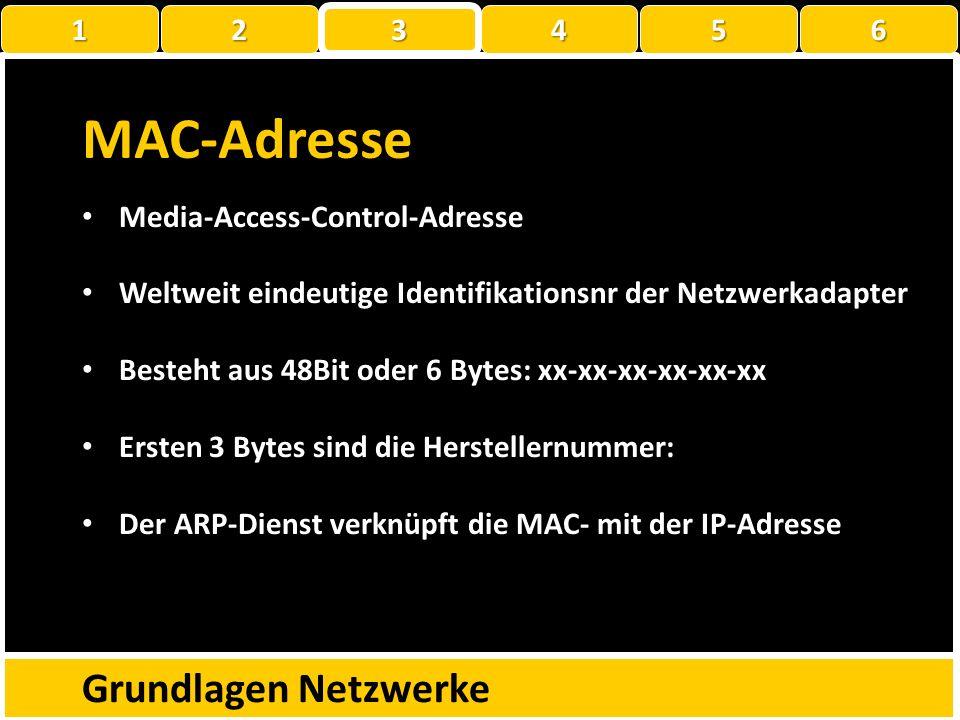 MAC-Adresse Grundlagen Netzwerke C:\Users\Kubba-von Jüchen>ipconfig /all Drahtlos-LAN-Adapter Drahtlosnetzwerkverbindung: Verbindungsspezifisches DNS-