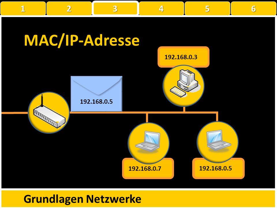 MAC/IP-Adresse Grundlagen Netzwerke 1 22223 456