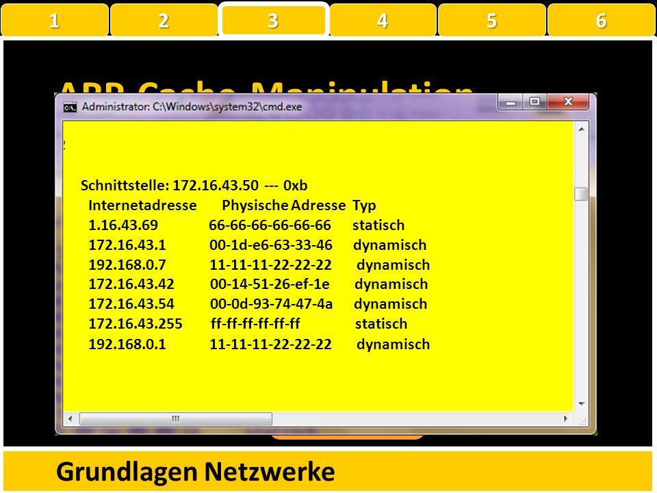 Übung Demonstration Wireshark Bearbeitet die Aufgaben auf dem Arbeitsblatt « 03_ARP untersuchen mit Wireshark» Grundlagen Netzwerke 1 22223 456