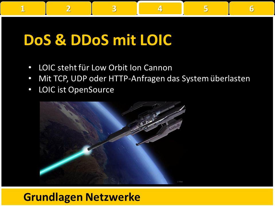 DoS & DDoS Grundlagen Netzwerke 1 22223 4 56 Denial of Service (Dienstverweigerung) Nichtverfügbarkeit eines Dienstes wegen Überlastung. DDoS steht fü