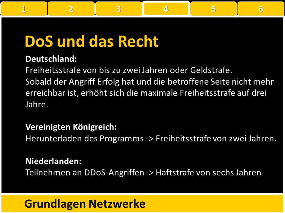 DoS & DDoS mit LOIC Grundlagen Netzwerke 1 22223 4 56 Problem: Die IPs der Angreifer lassen sich leicht herausfinden – und dann …