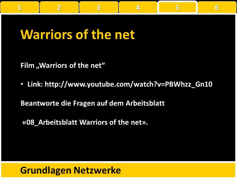 Grundlagen Netzwerke 1 222234 5 6 Portscan Beantworte die Fragen auf dem Arbeitsblatt «07_Arbeitsblatt Portscan».