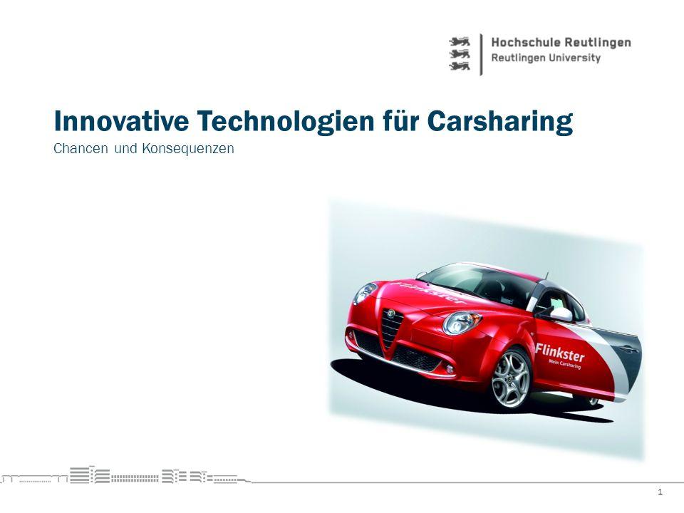 Innovative Technologien für Carsharing Chancen und Konsequenzen 1